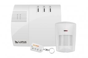 Basis Sicherheitspaket mit Alarmzentrale, Bewegungsmelder und Fernbedienung